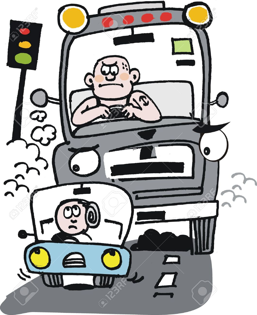 Lorry Driver Heavy Traffic