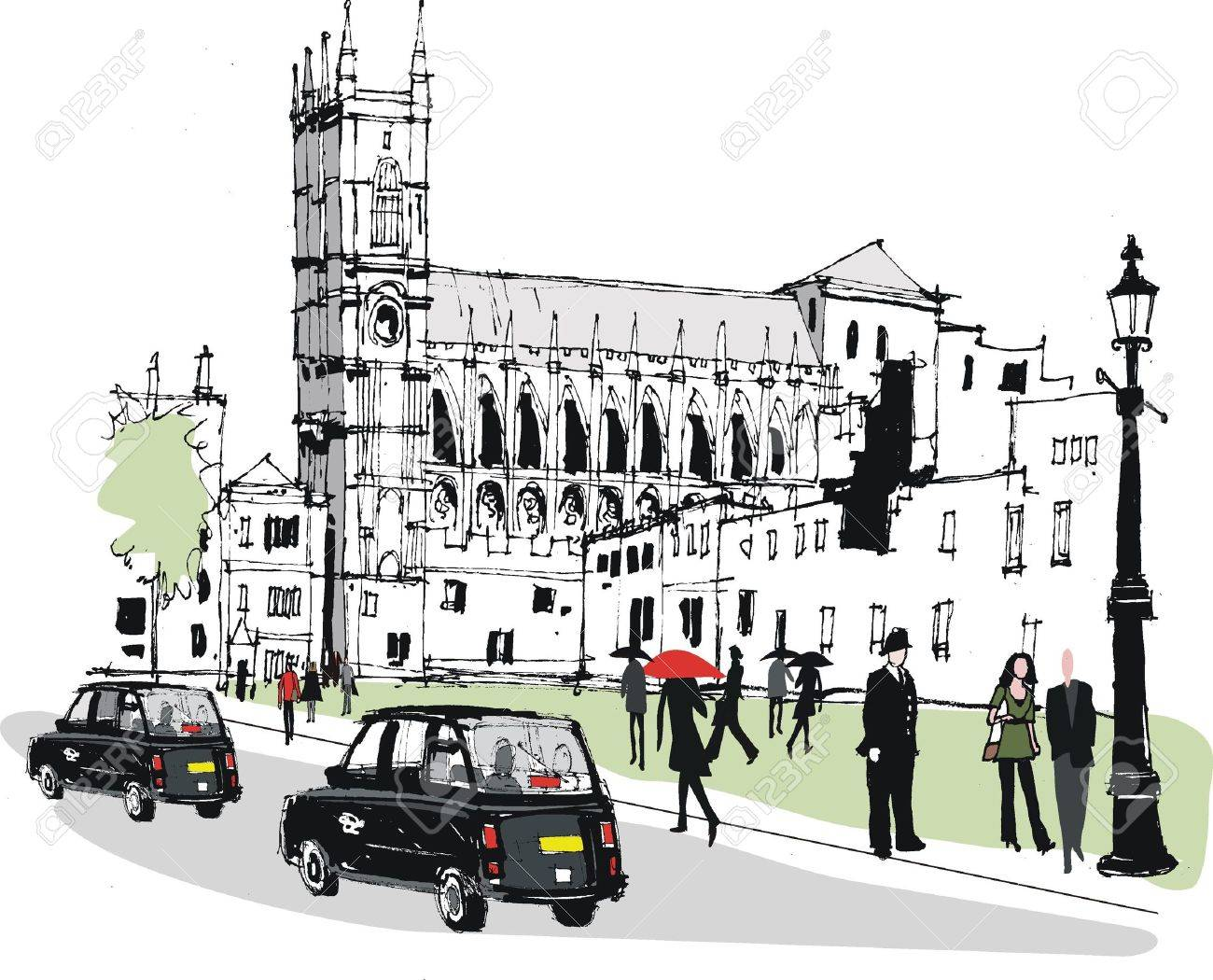 Vector illustration of historic Westminster Abbey London Stock Vector - 11674421