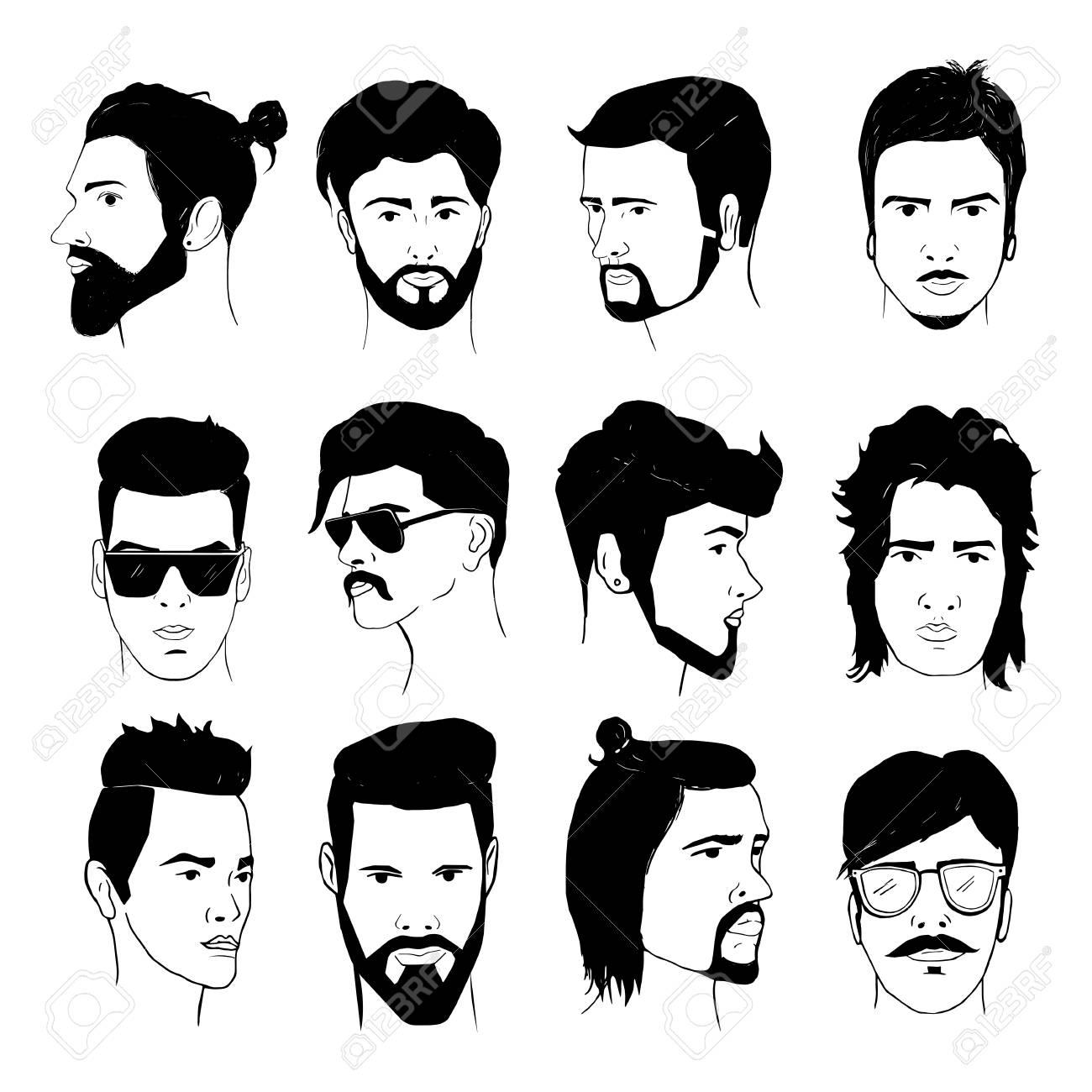 Coiffures de barbe et de moustache pour hommes
