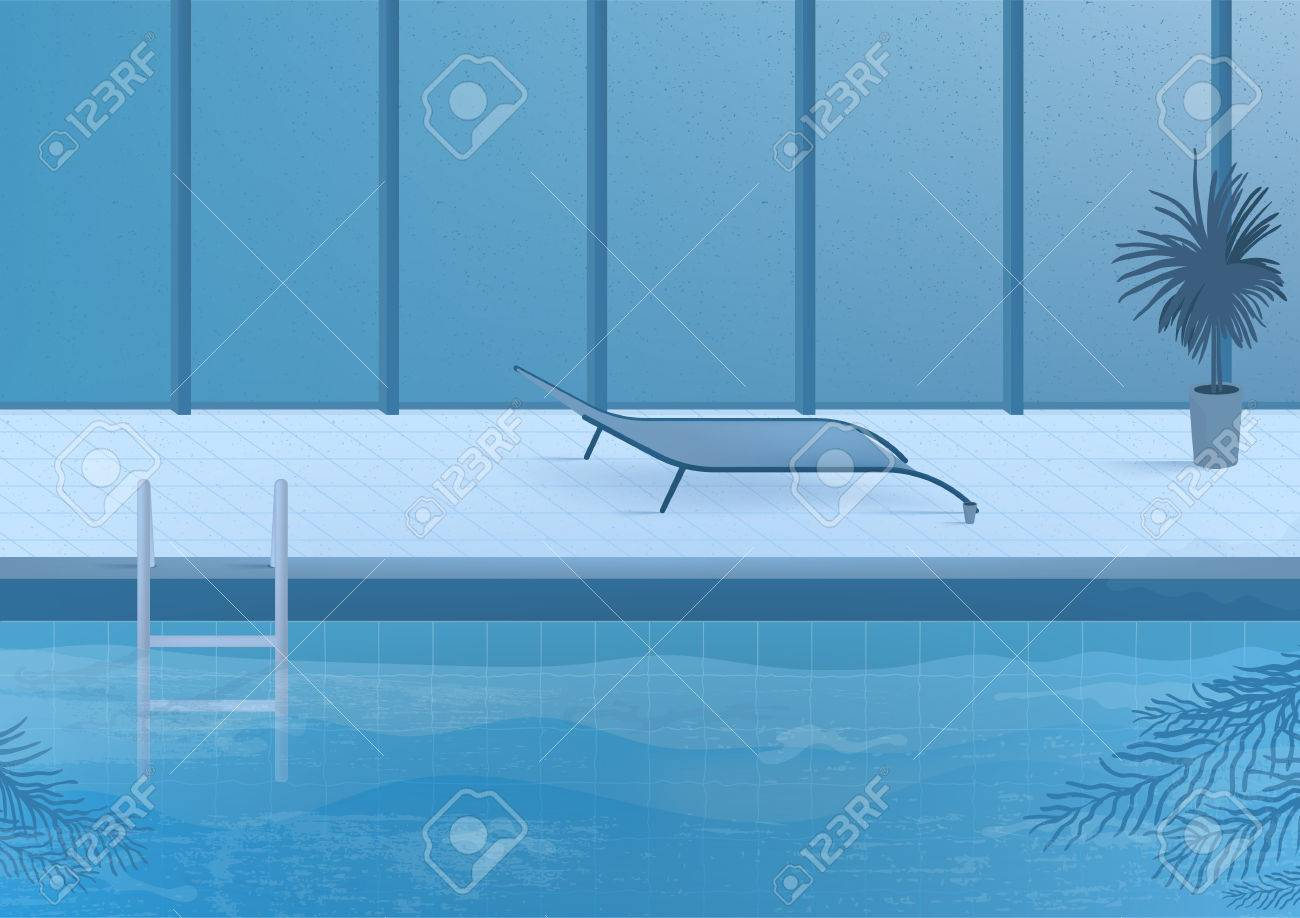Public Swimming Pool Inside Interior Illustration. Royalty Free ...
