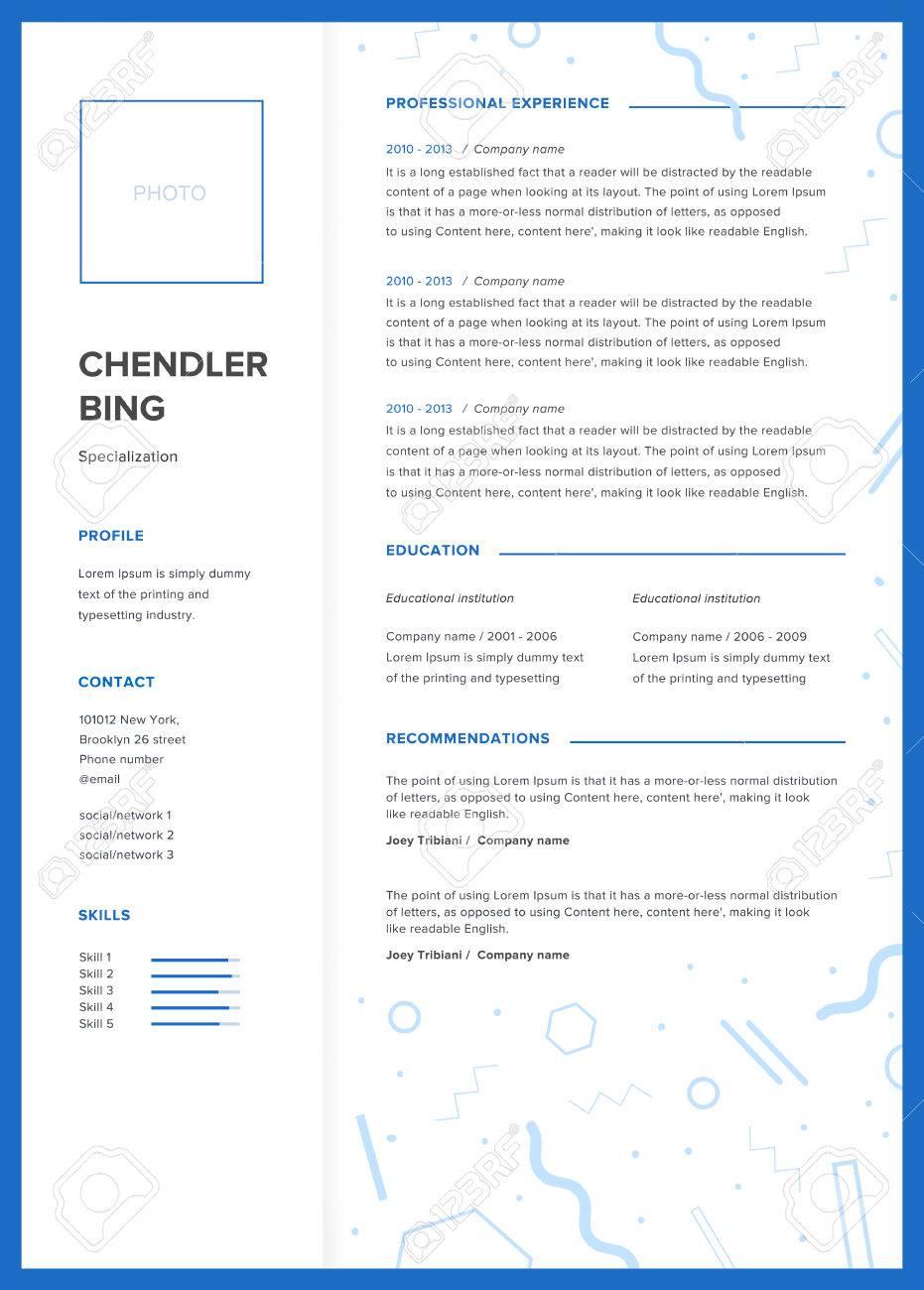 Plantilla De CV. Minimalista Curriculum Vitae, Página Web, Solicitud ...