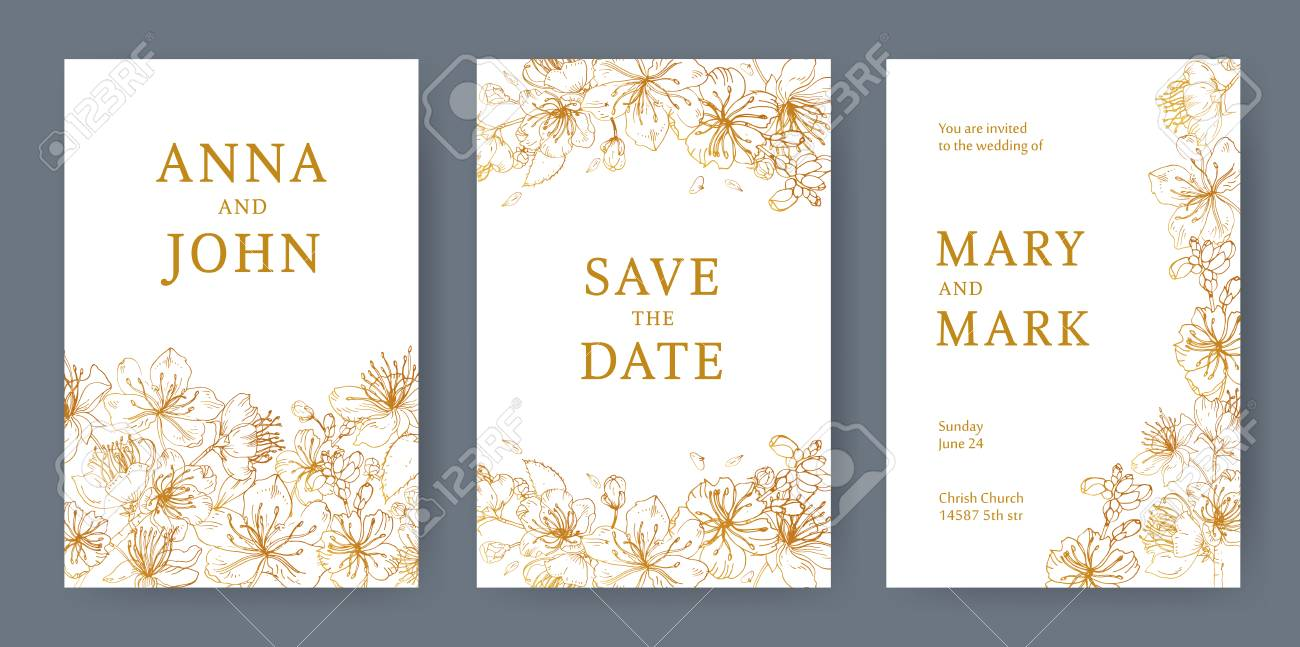 Collection Of Elegant Templates For Flyer, Save The Date Card ...