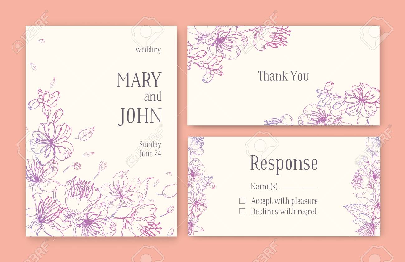 Set Of Gorgeous Templates For Save The Date Card, Wedding Invitation ...