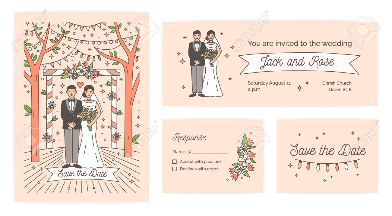 Collection Of Save The Date Card Wedding Ceremony Invitation