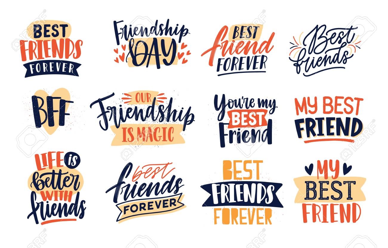 collection of friends and friendship quotes handwritten