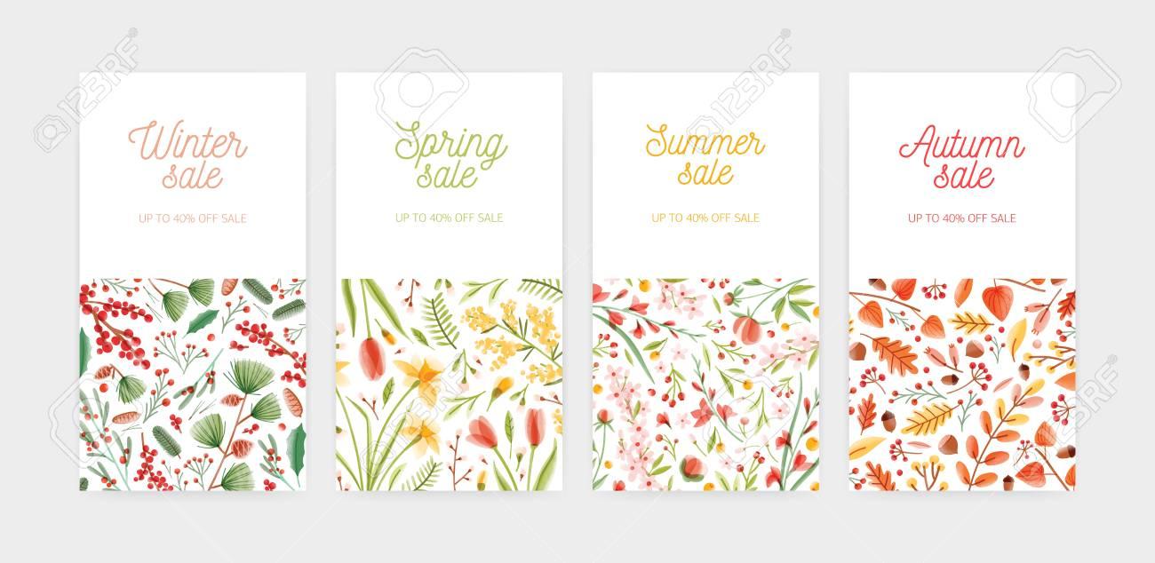 bundle of vertical banner promo voucher or coupon templates