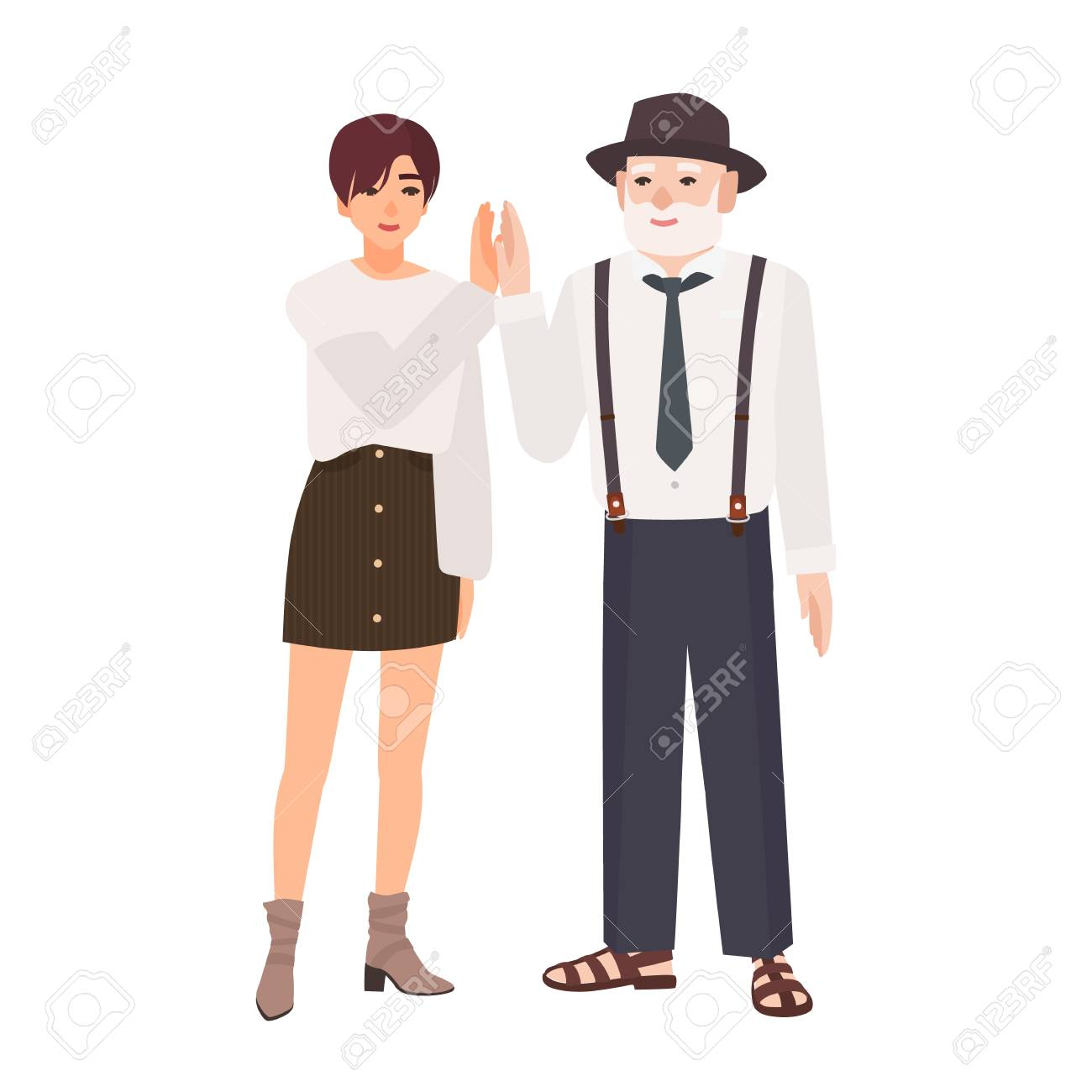 Old Man Young Girl Sauna