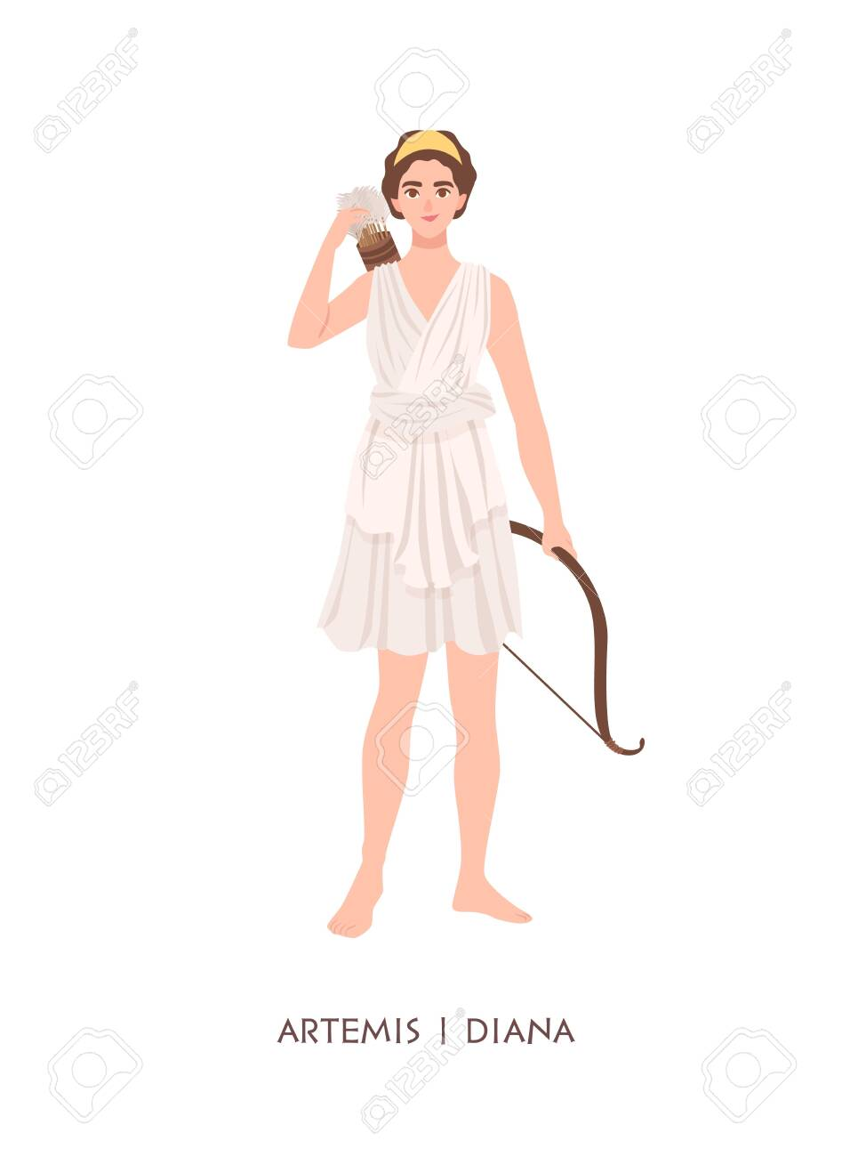 Artemis Or Diana Goddess Or Deity Of Hunt Moon And Chastity
