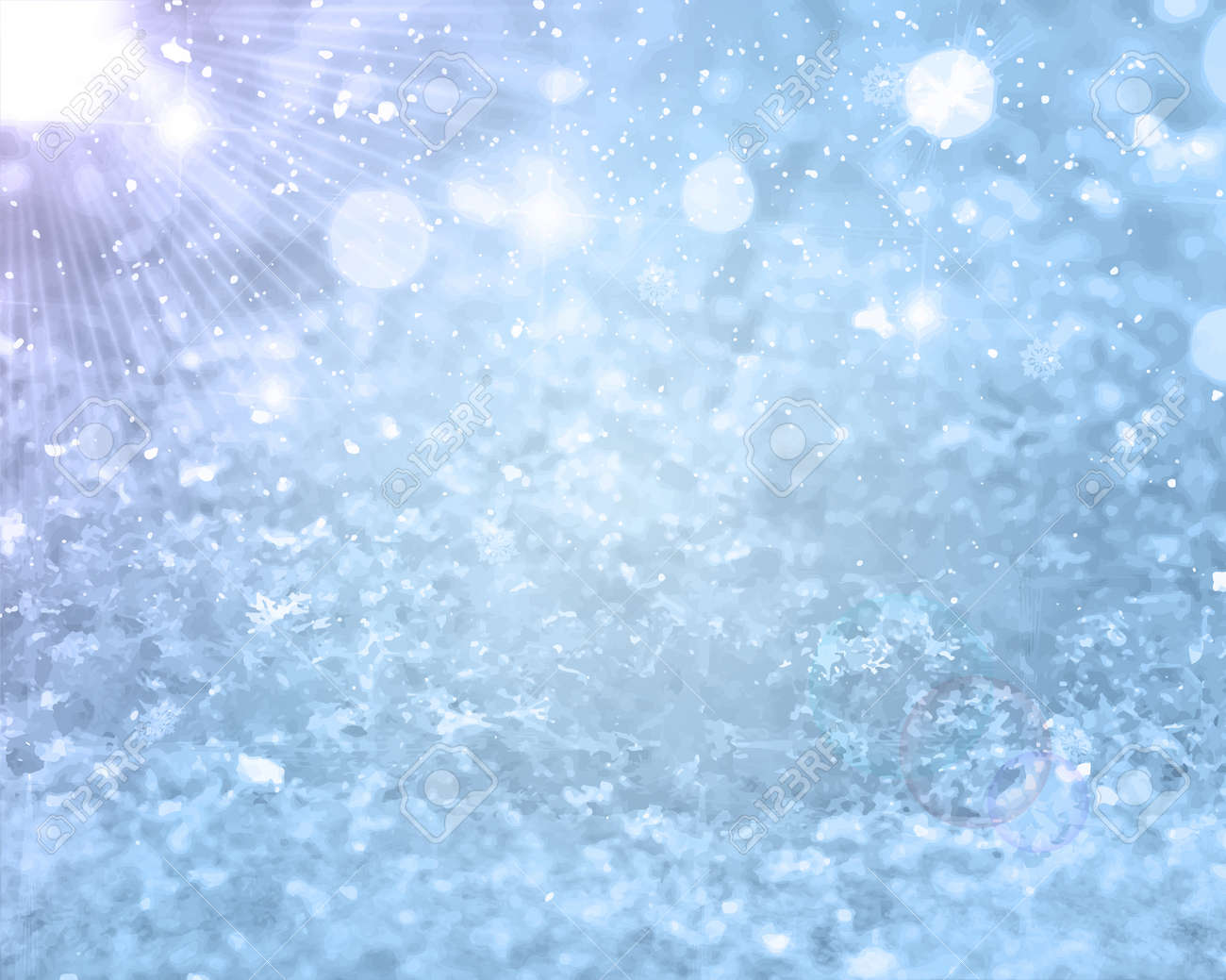 Realistic falling snow. Christmas or Winter background for greetings or advertising with place for text. Glows Frost effect Vector Illustration EPS 10 Isolated - 152074625