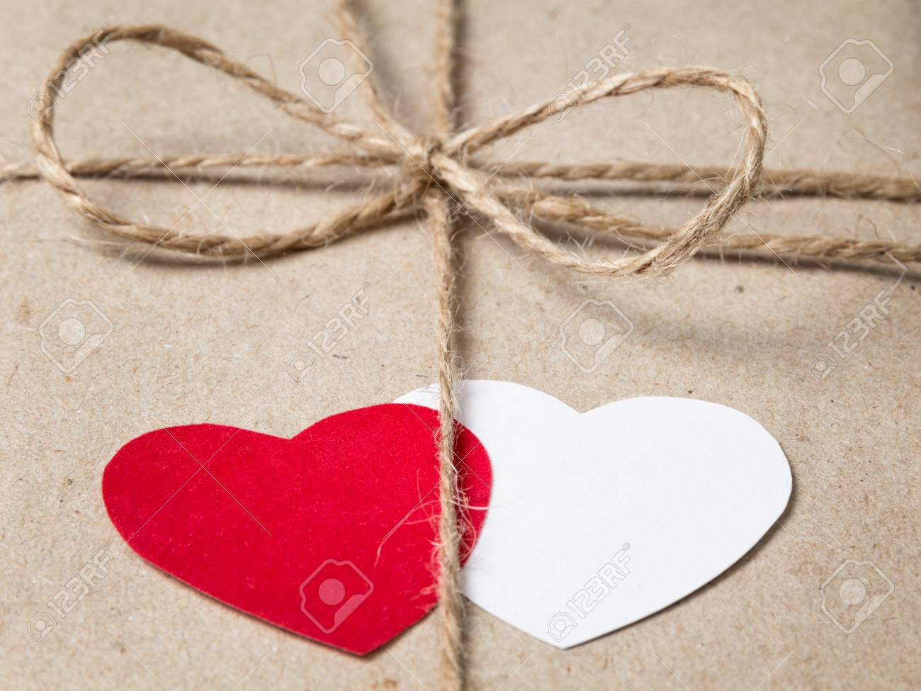 valentines day parcel, can be used as a background Stock Photo - 17377180