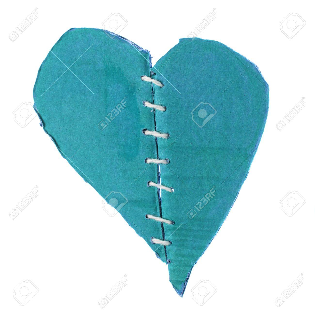 fixed brocken heart, isolated on white background Stock Photo - 17568948