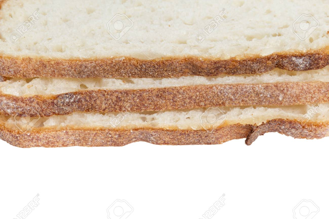 stack of slices white bread, isolated on white background Stock Photo - 19158374