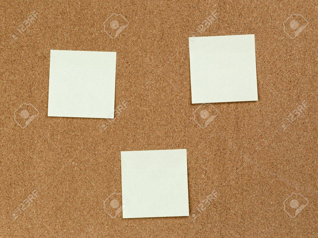Notes Reminders On The Cork Board, Template Stock Photo, Picture ...