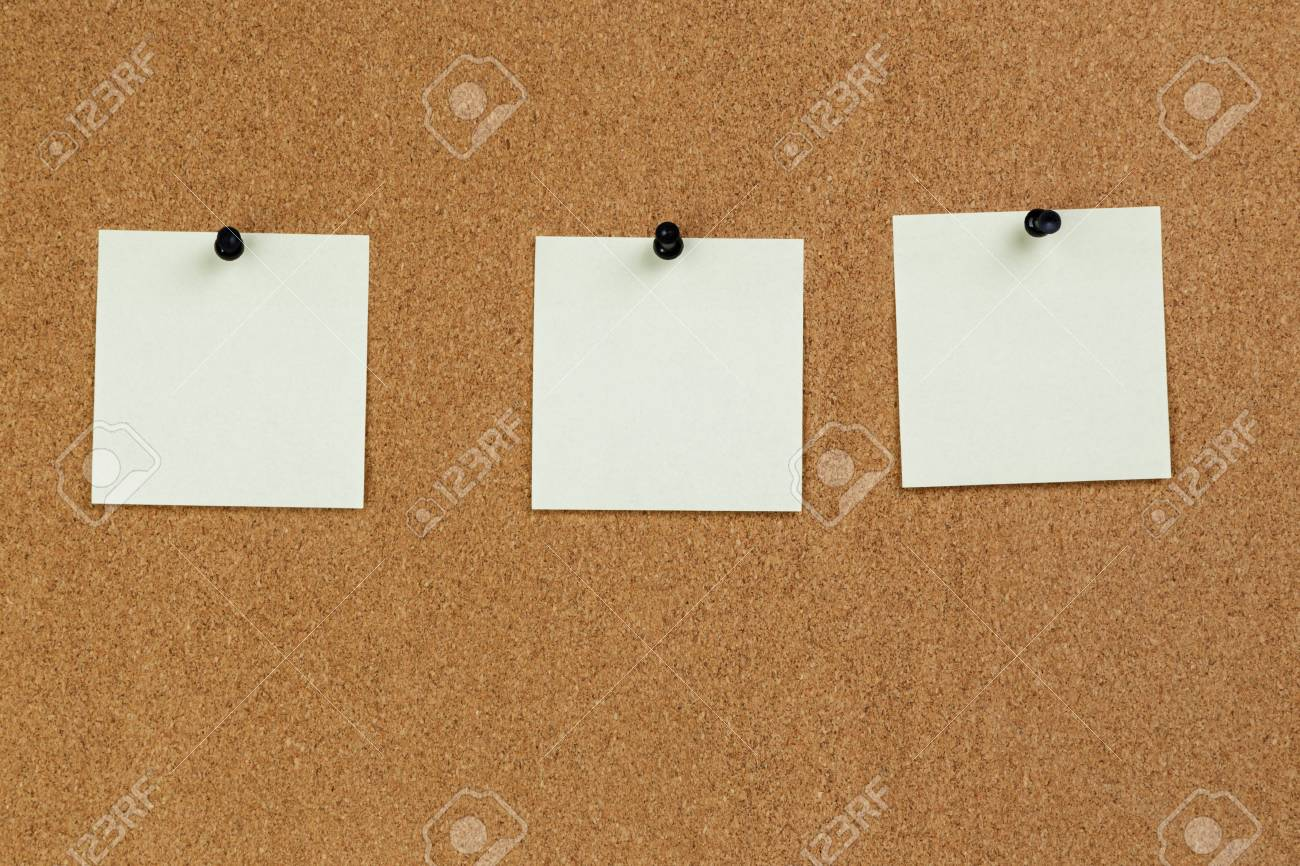 notes reminders on the cork board template stock photo picture and