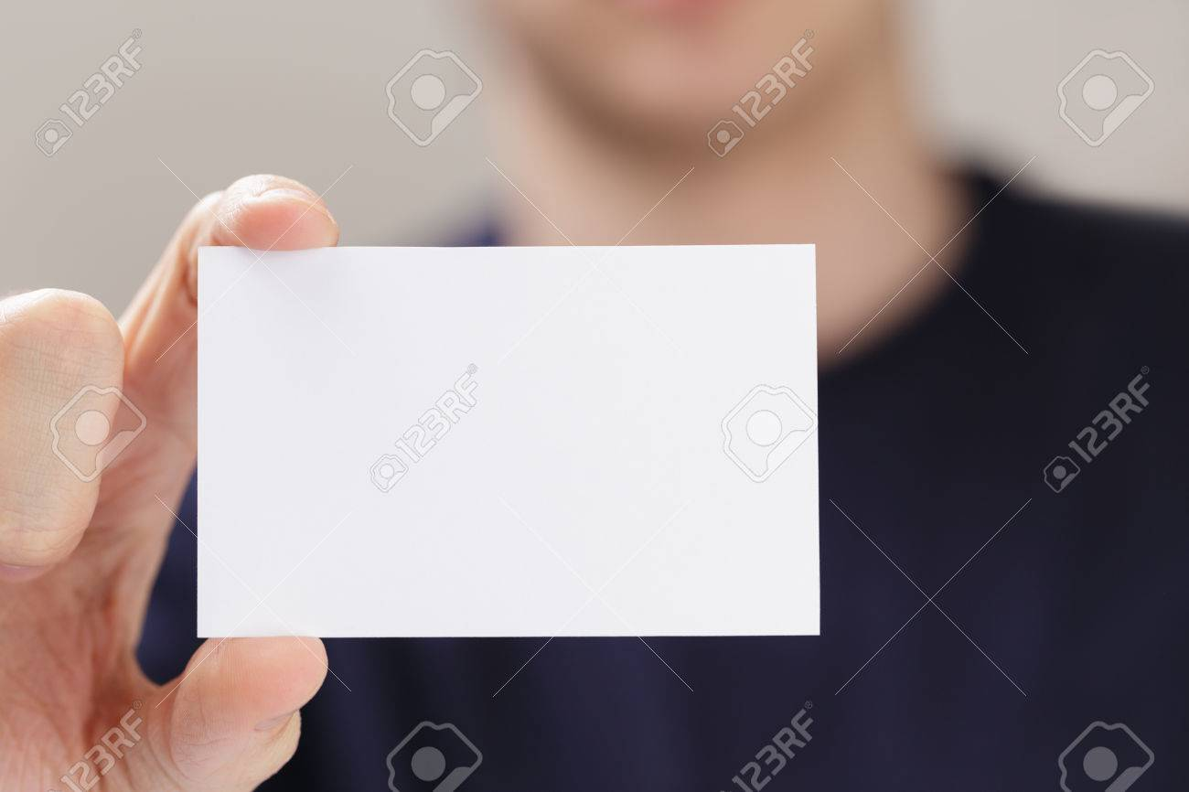 Business card camera image collections free business cards adult man hand holding empty business card in front of camera adult man hand holding empty magicingreecefo Images