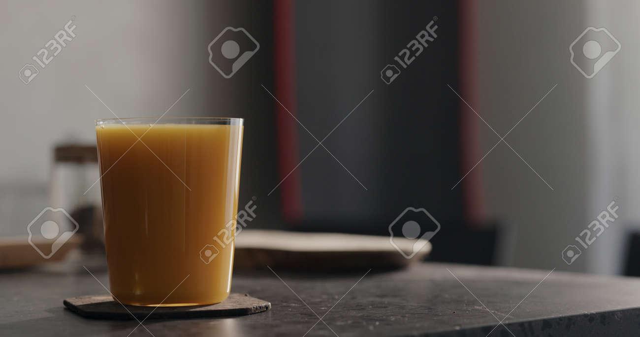 orange juice in tumbler glass - 174263195