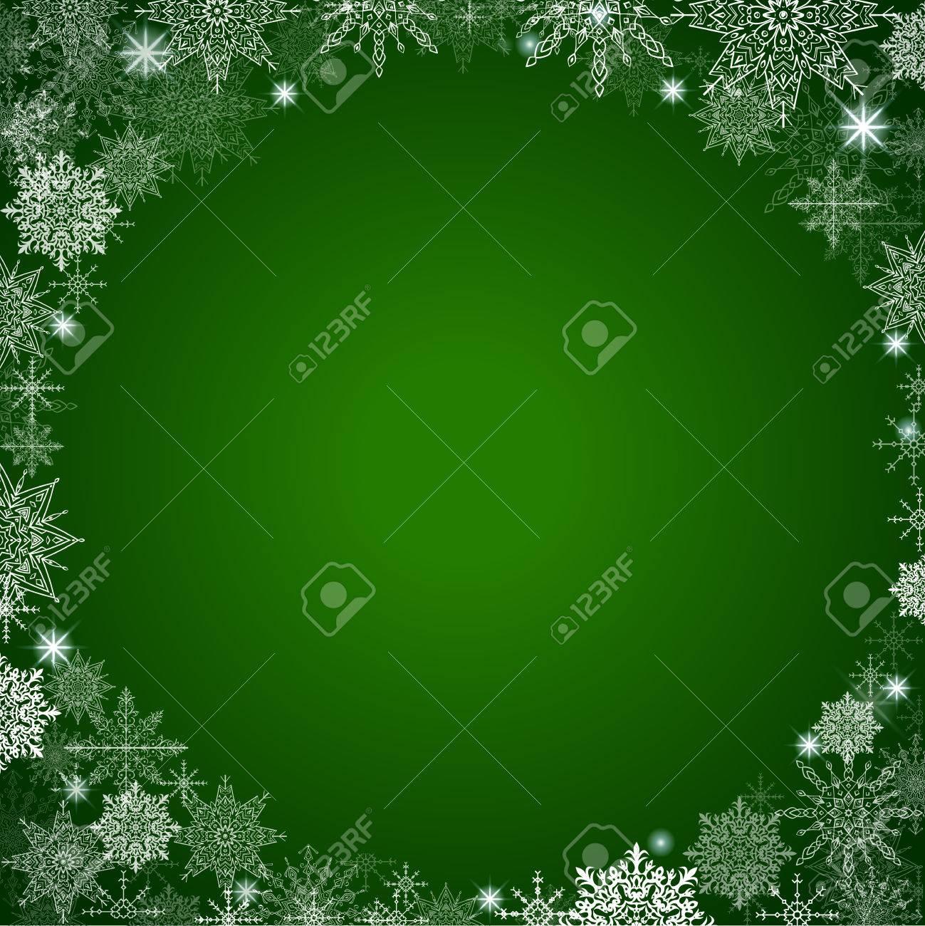 Fabelhafte Weihnachten Hintergrund Viel Schneeflocken Um Den Rahmen ...