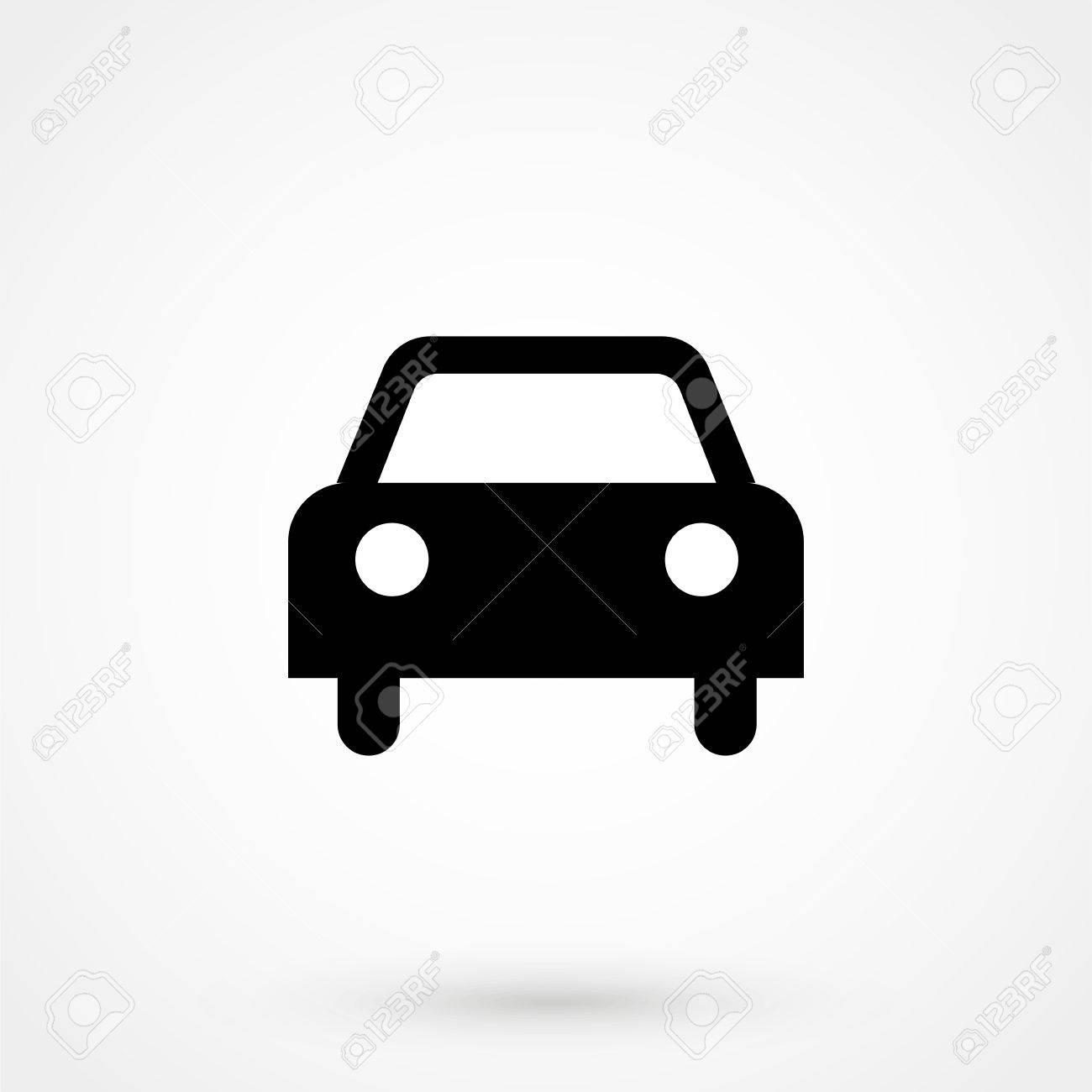 車アイコンの分離の簡単なフロント車イラストのイラスト素材ベクタ
