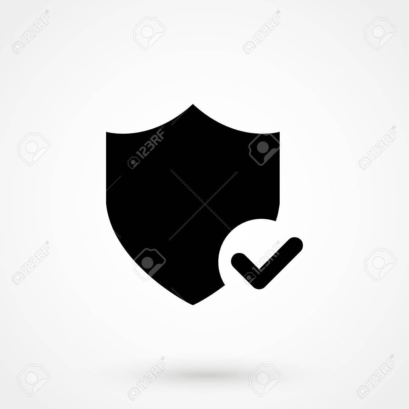 Shield With Checkmark Symbol For Download Vector Icon Royalty Free