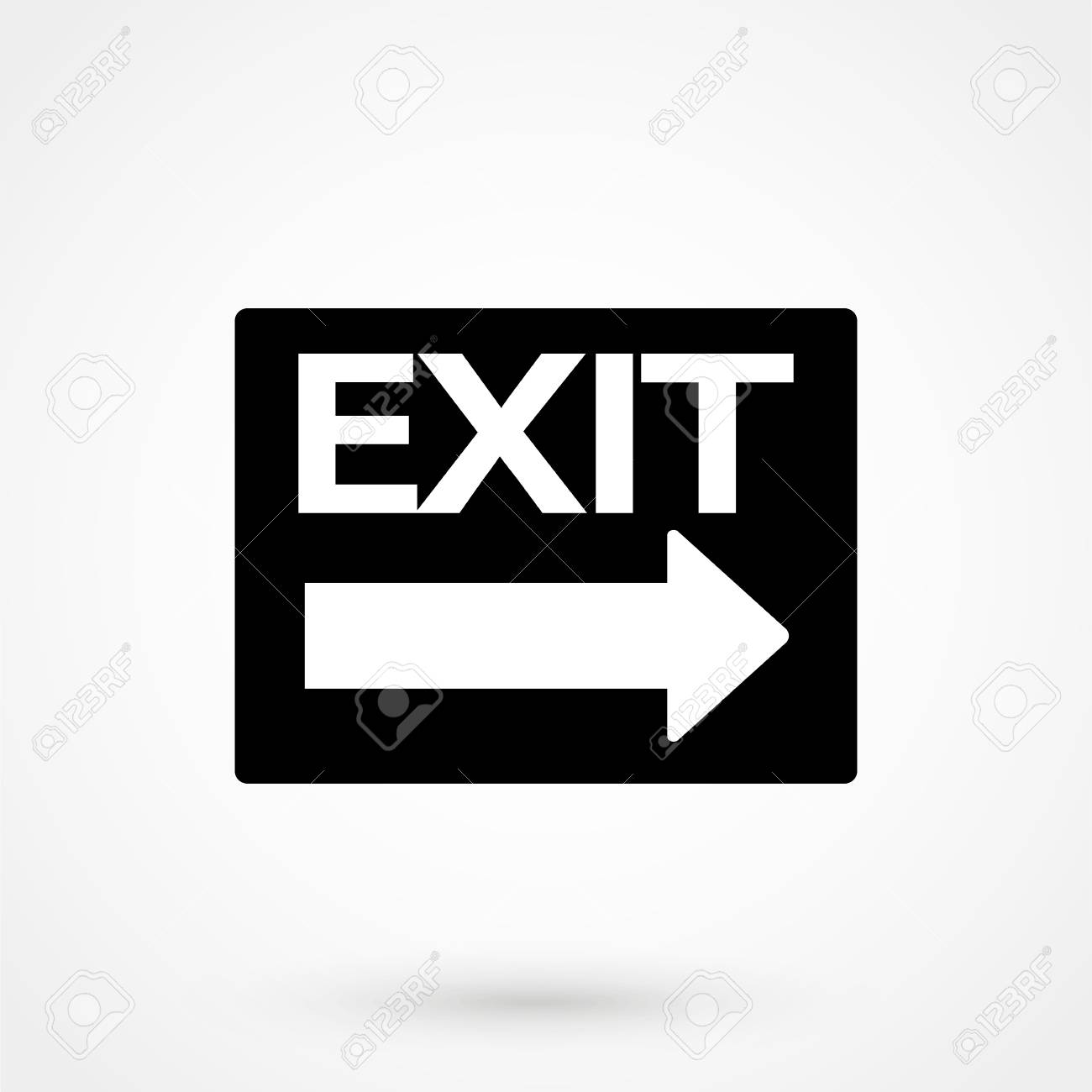 Exit sign vector icon festival sign gate symbol royalty free exit sign vector icon festival sign gate symbol stock vector 89834284 buycottarizona Images