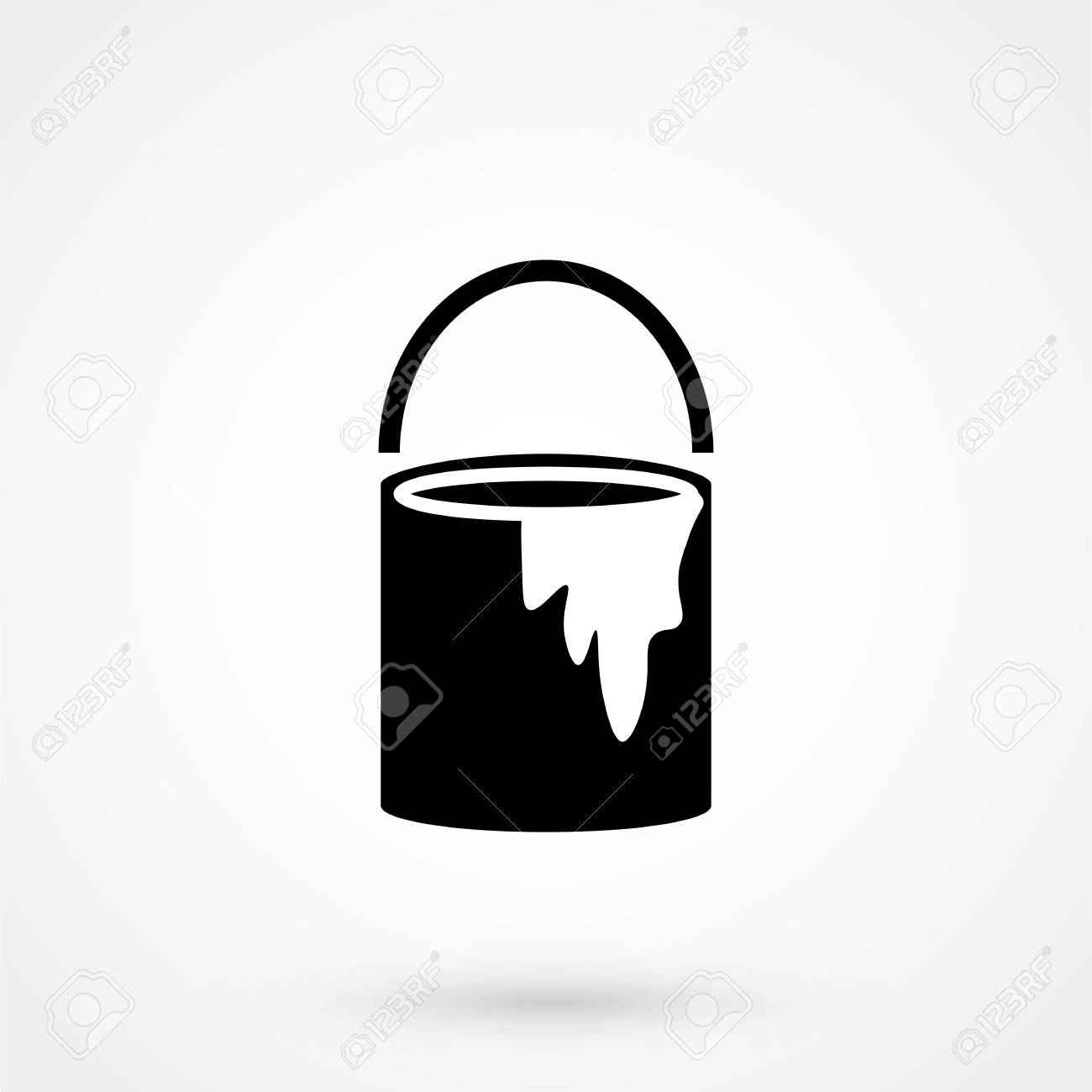 Paint Bucket Icon Paint Bucket Vector Illustration Royalty Free Cliparts Vectors And Stock Illustration Image 89840036