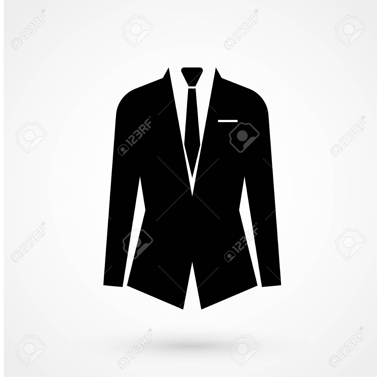 Vector illustration of black suit icon