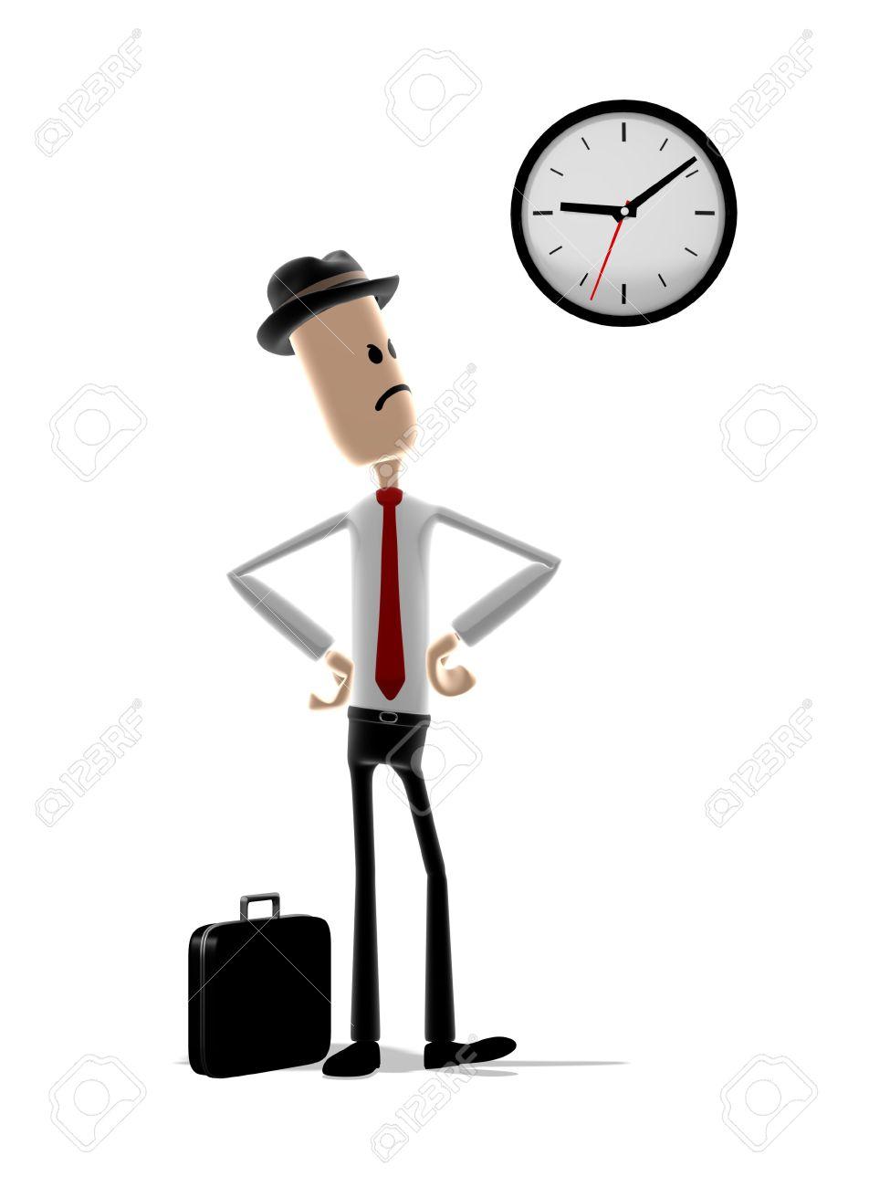 """"""" Il logo della settimana """" 2nd sessione 4113264-dibujos-animados-con-indignaci%C3%B3n-por-el-hombre-mira-el-reloj-mientras-espera-a-que-alguien"""