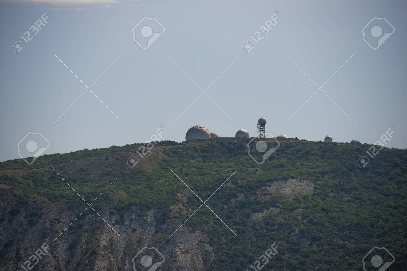 Weather Radars On The Mountain In Anapa Krasnodar Region Russia Stock Photo Picture And Royalty Free Image Image 127655484