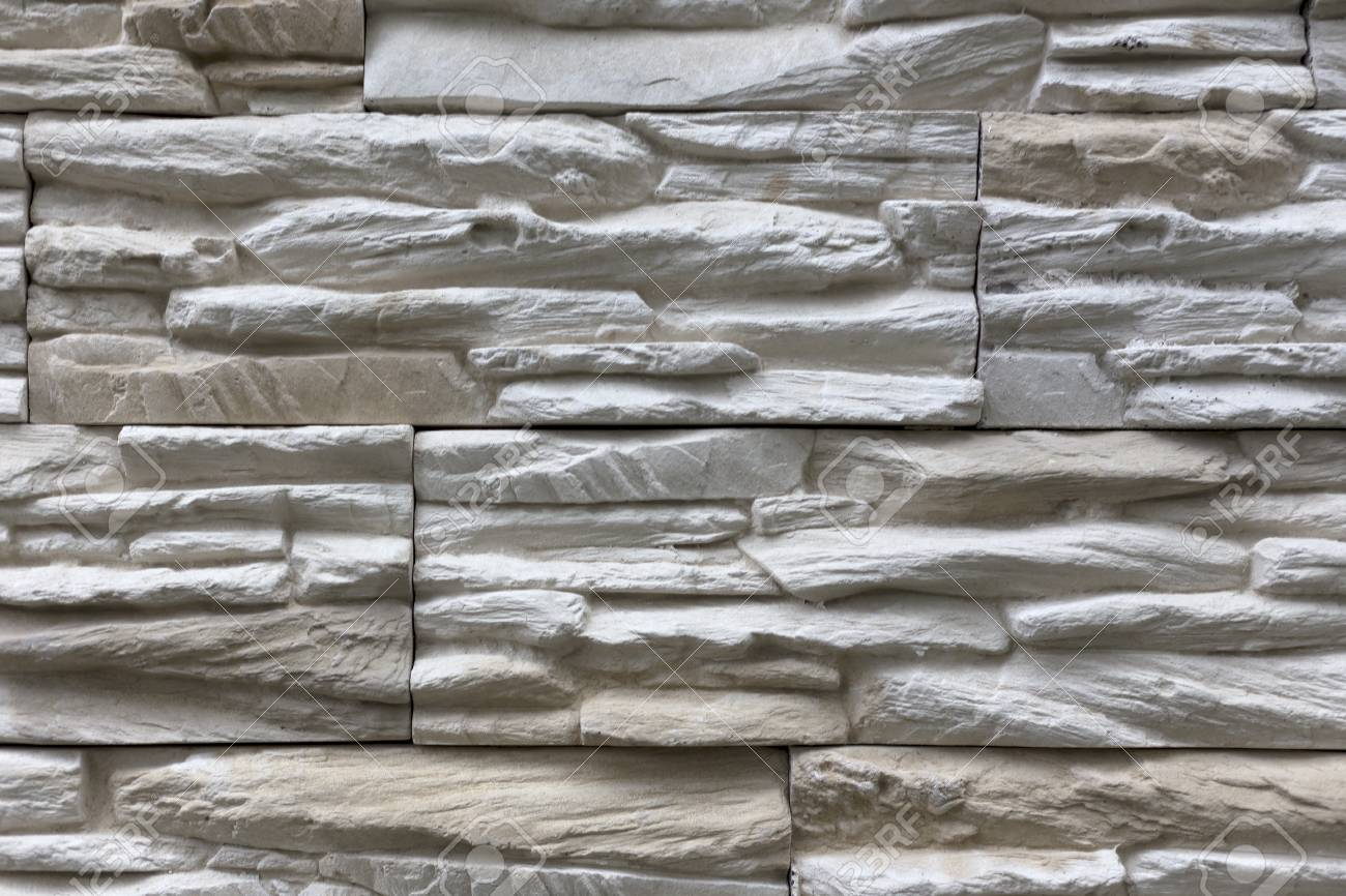 Stone Wall Of Natural Stones Of Different Sizes Rustic Stone