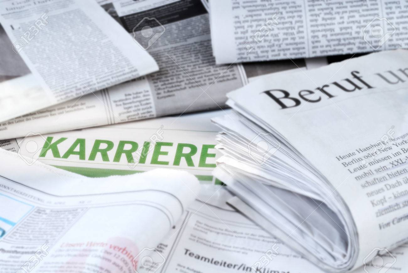 daily newspapers job vacancies and the writing karriere stock daily newspapers job vacancies and the writing karriere stock photo 28119316