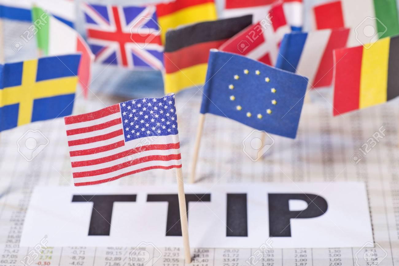 Symbol Photo Transatlantic Free Trade Agreement Ttip Stock Photo