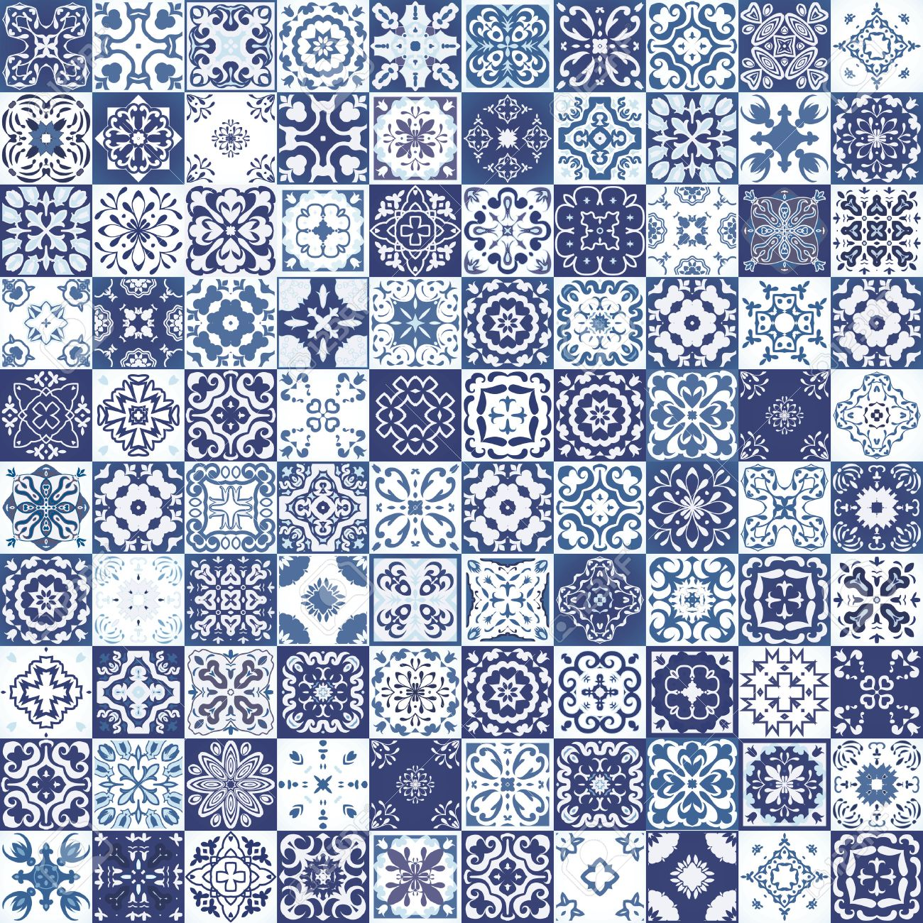 Mega Gorgeous seamless patchwork pattern from colorful Moroccan tiles, ornaments. Can be used for wallpaper, pattern fills, web page background,surface textures. - 55091954