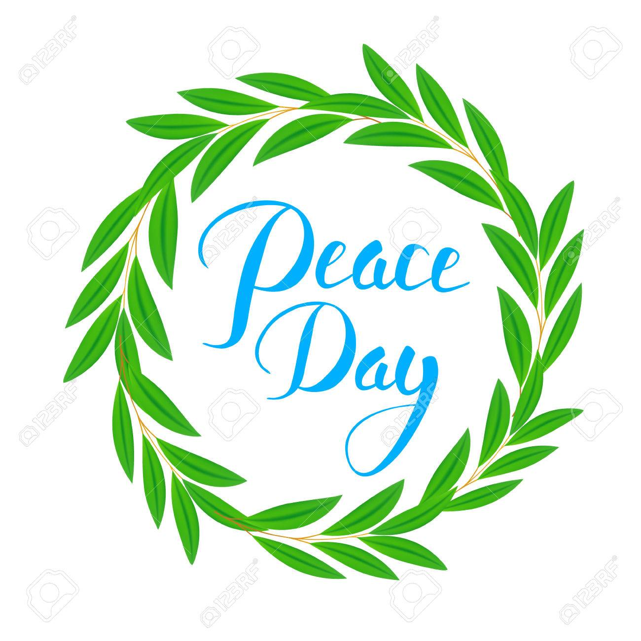 International Peace Day Poster Olive Branch Symbol Of Peace
