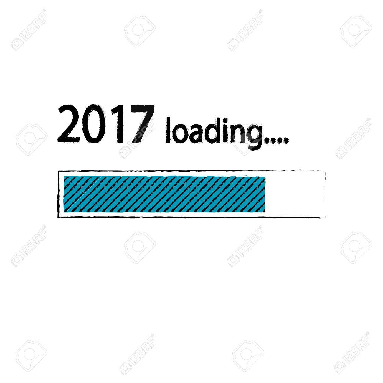 New year 2017 loading background happy new year funny business new year 2017 loading background happy new year funny business concept mail load voltagebd Choice Image
