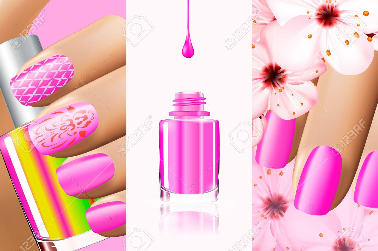 Colorful Pink Collection Of Nail Designs For Summer And Spring ...