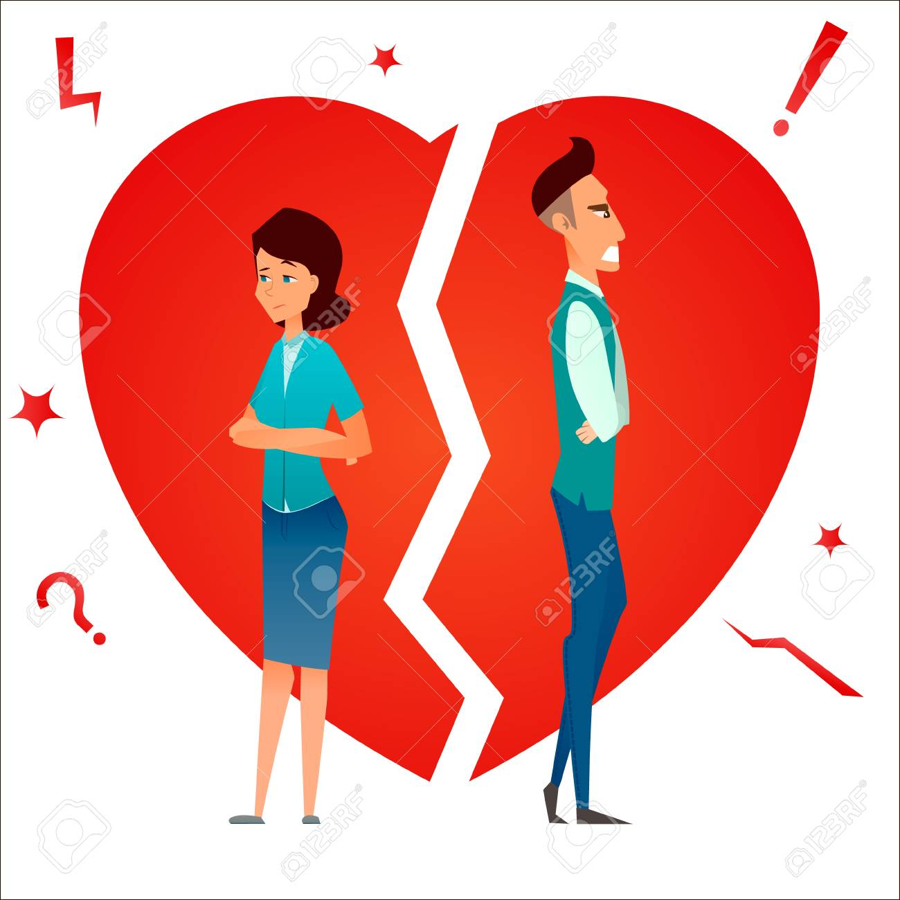 Divorce Family Conflict Break Up Relationship Married Couple Stock Photo Picture And Royalty Free Image Image 98376411