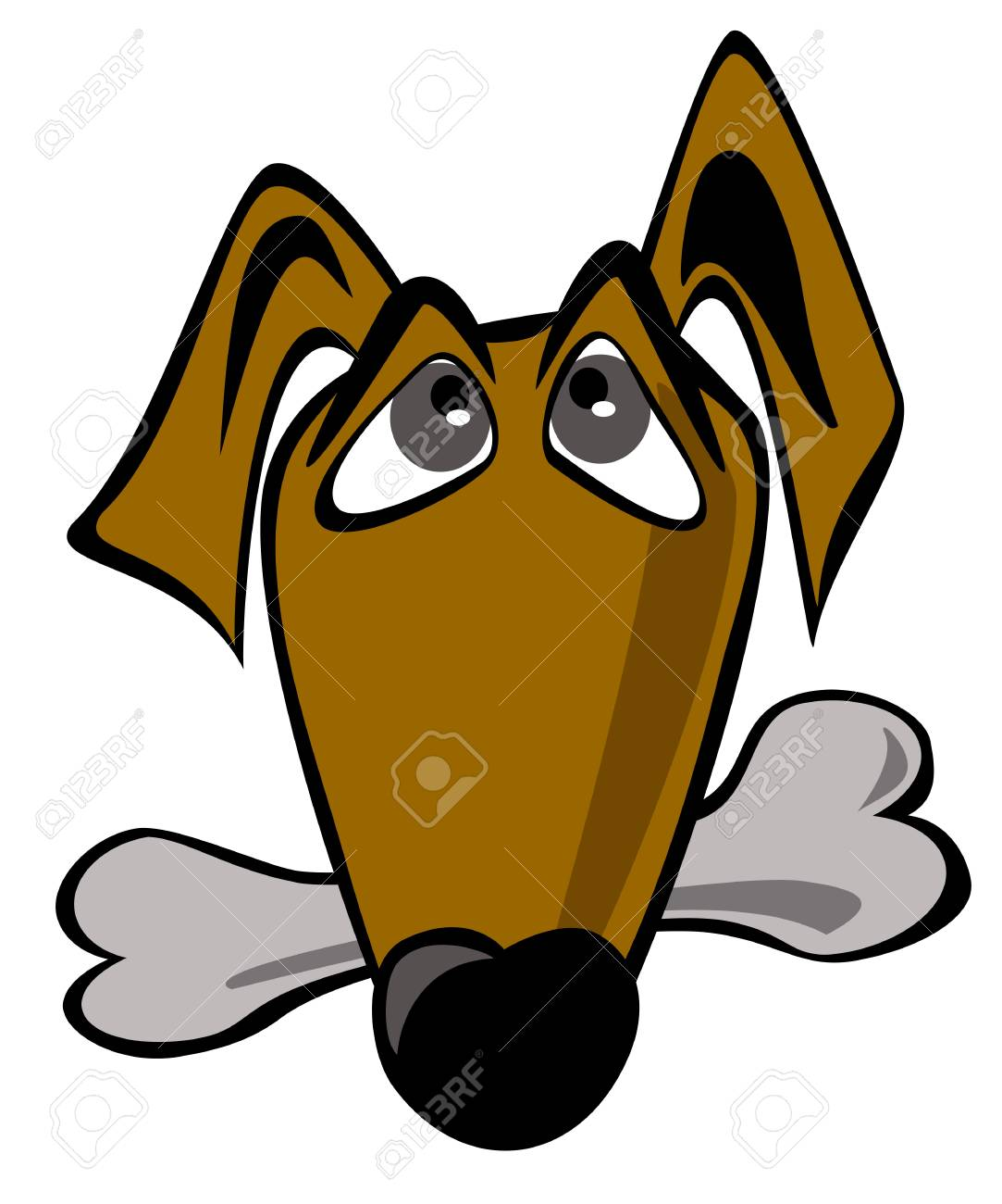 Vector image of an dog on white background Stock Vector - 21376478