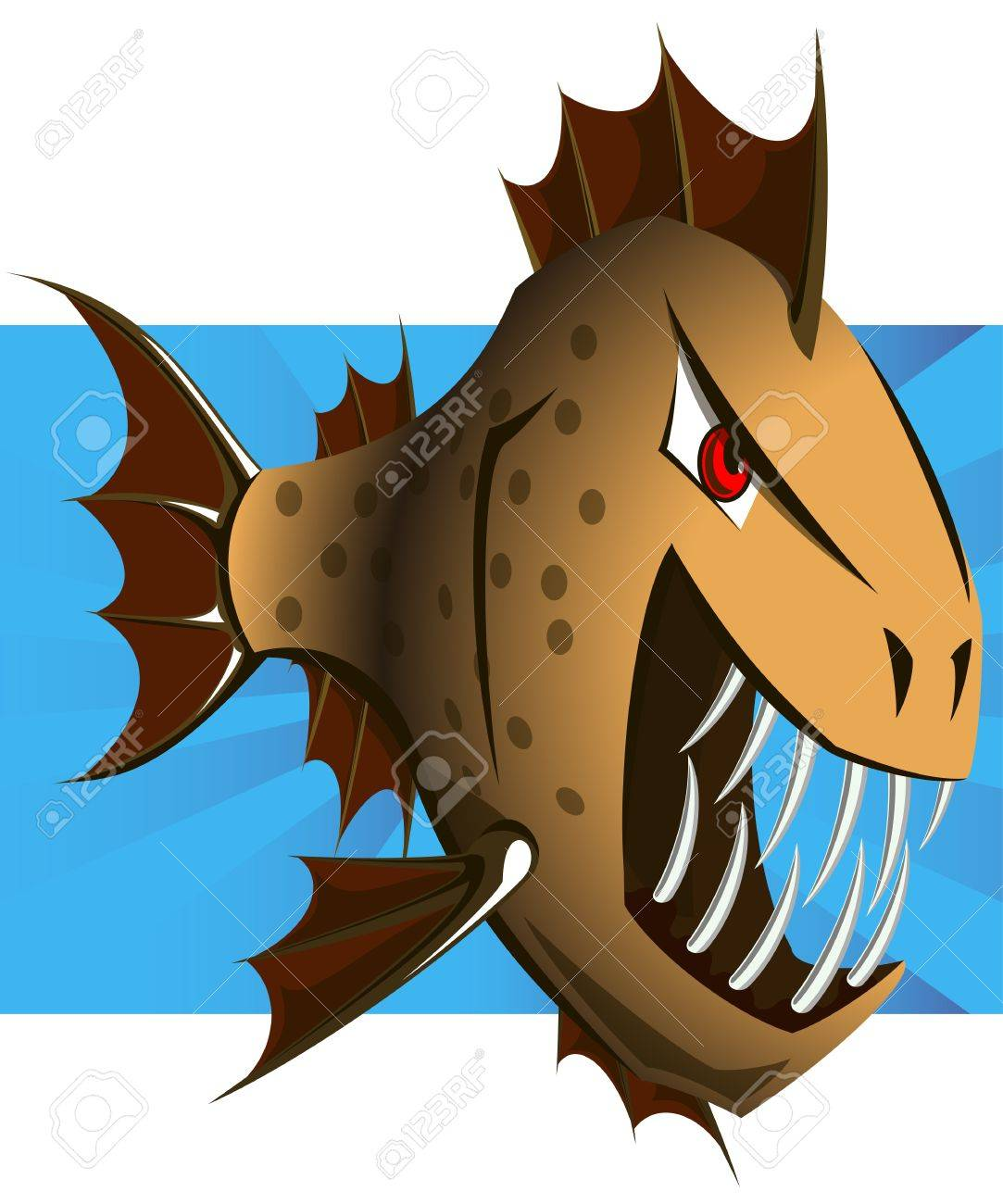 cartoon piranha vector clip art royalty free cliparts vectors rh 123rf com