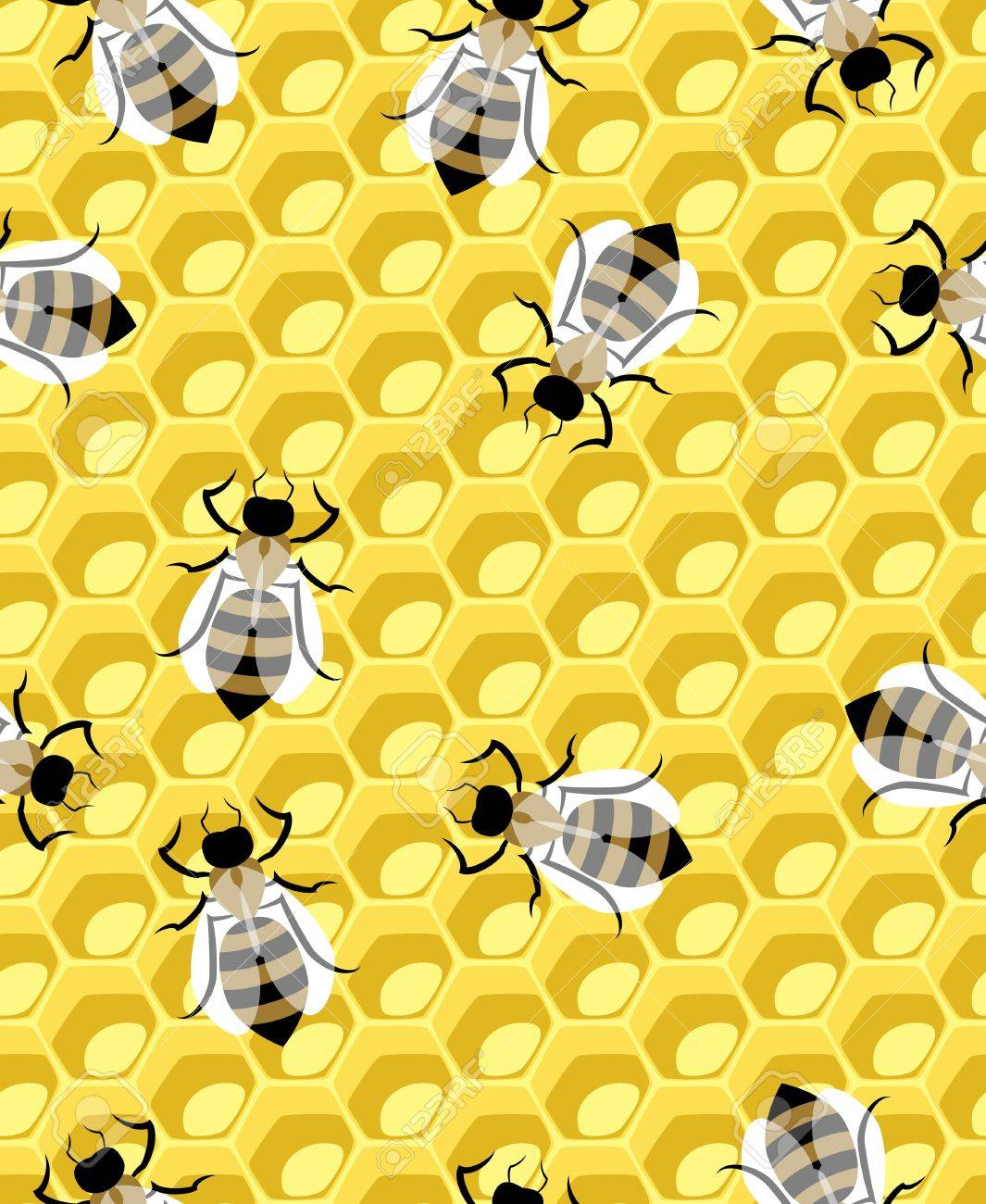 completely seamless honeycomb pattern vector Stock Vector - 21938000