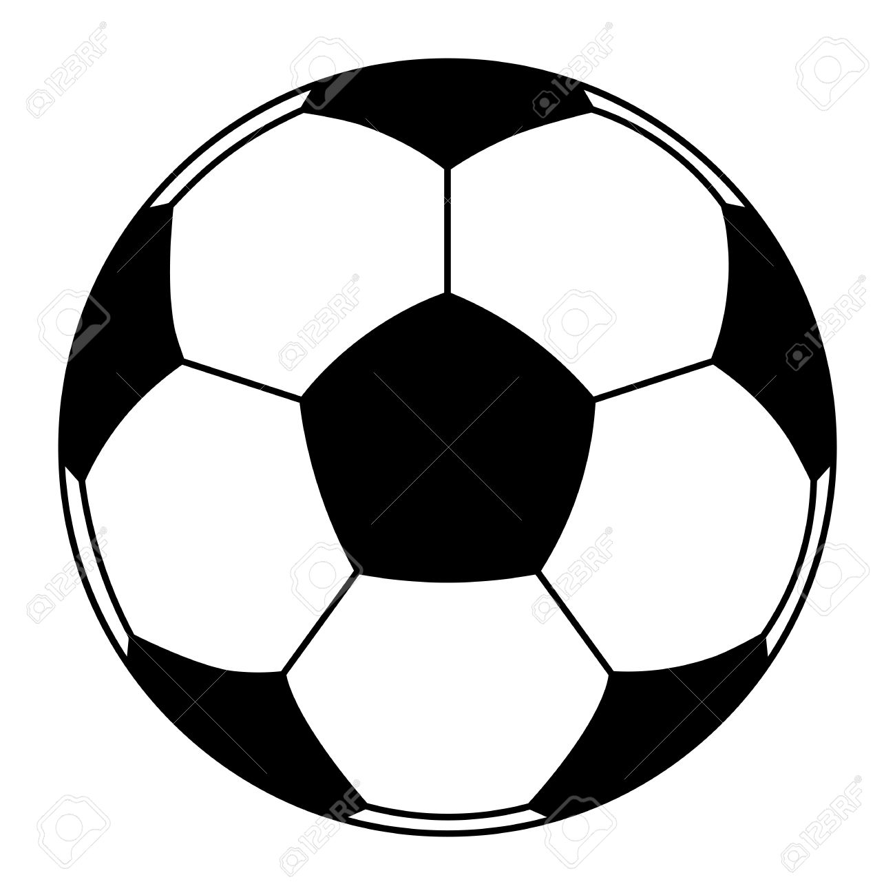 vector icon of soccer ball isolated clip art royalty free cliparts rh 123rf com soccer ball clip art background soccer ball clip art shape of letters