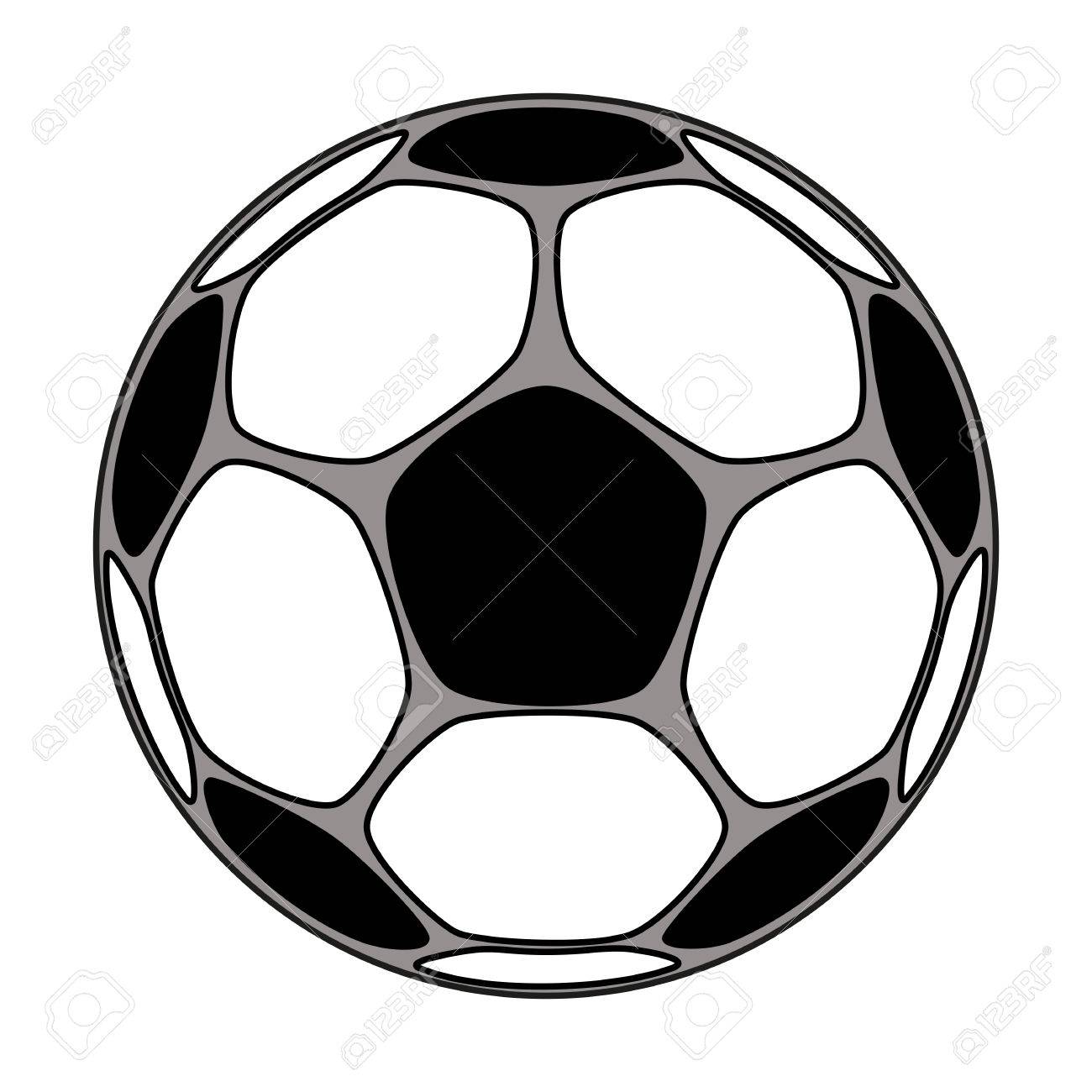 vector icon of soccer ball isolated clip art royalty free cliparts rh 123rf com soccer ball clip art cartoon soccer ball clip art cartoon
