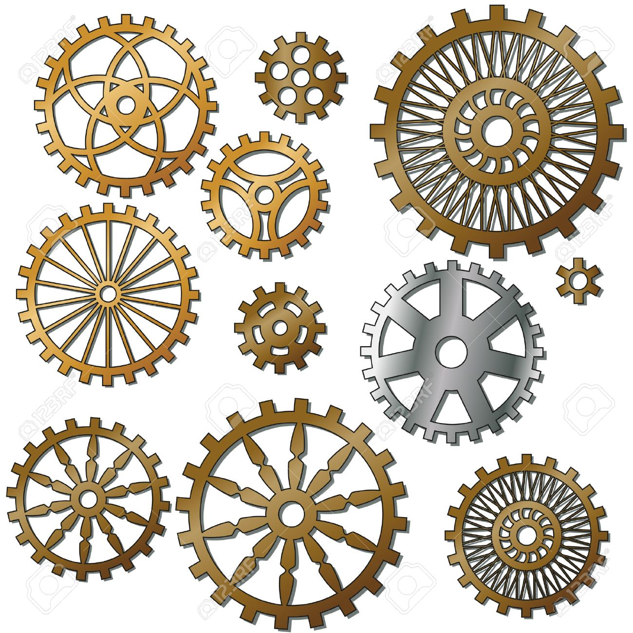 the gears in the style of steampunk. Gradient mash Stock Vector - 25319141