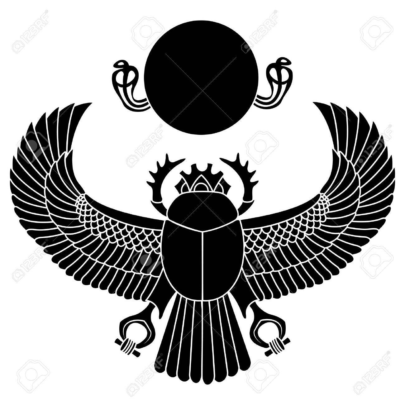 silhouette logo scarab. vector illustration clip art Stock Vector - 25999891