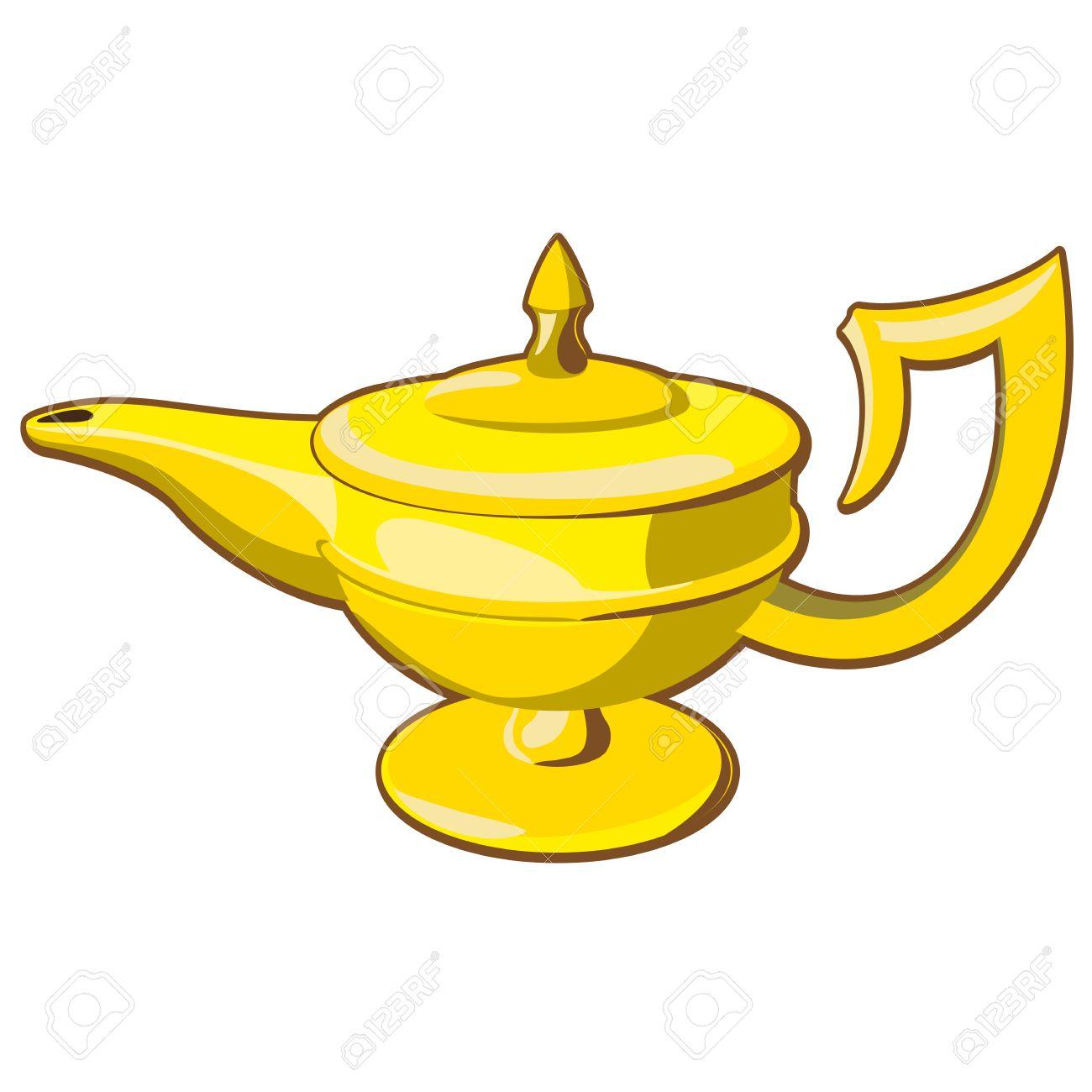 Doodle Style Genie Aladdinu0027s Lamp Vector Illustration Stock Vector    26017192