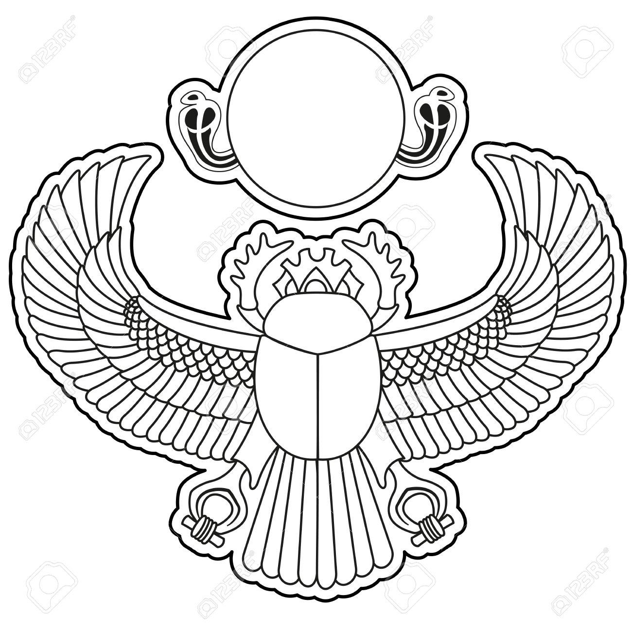 Украшения древнего египта раскраска