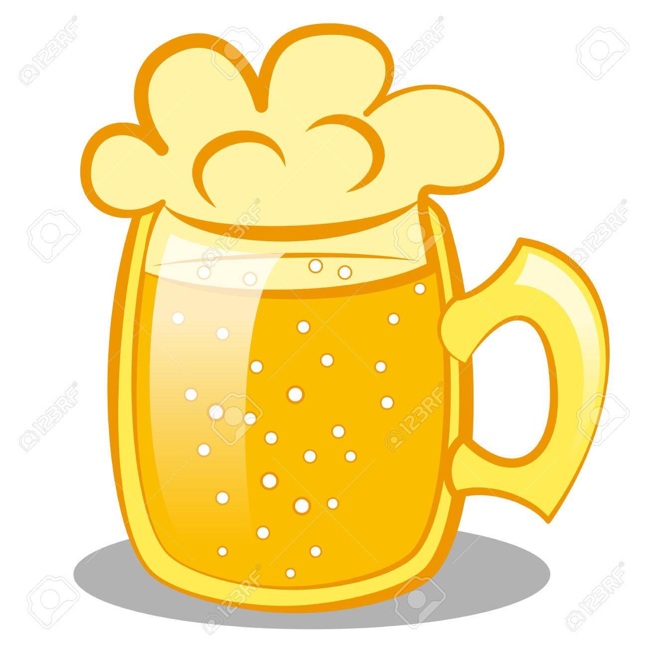 beer mug clipart. beer mug with a beer. clip art stock vector - 26163913 clipart
