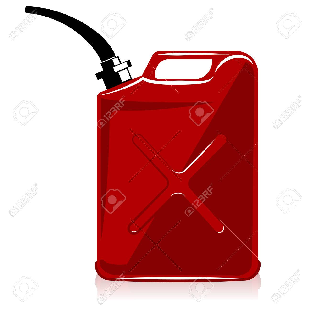 Fuel container or gas can. vector Stock Vector - 27485236