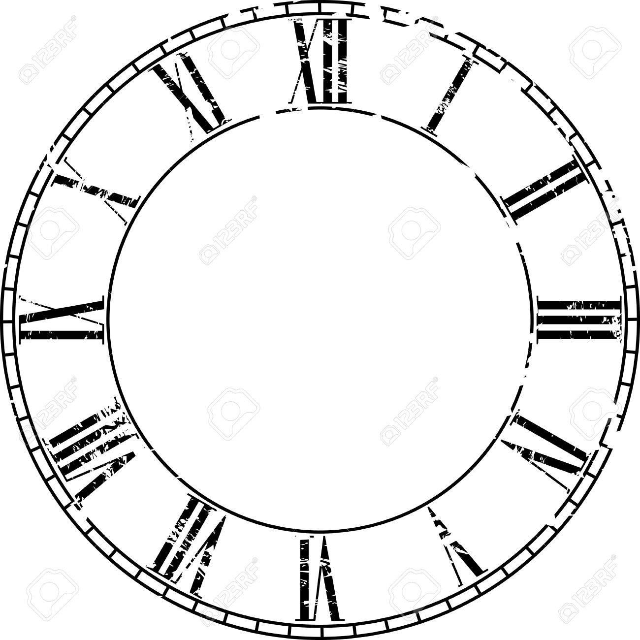 Vector Jahrgang Uhr Auf Weiß. Illustration Clip-Art- Lizenzfrei ...