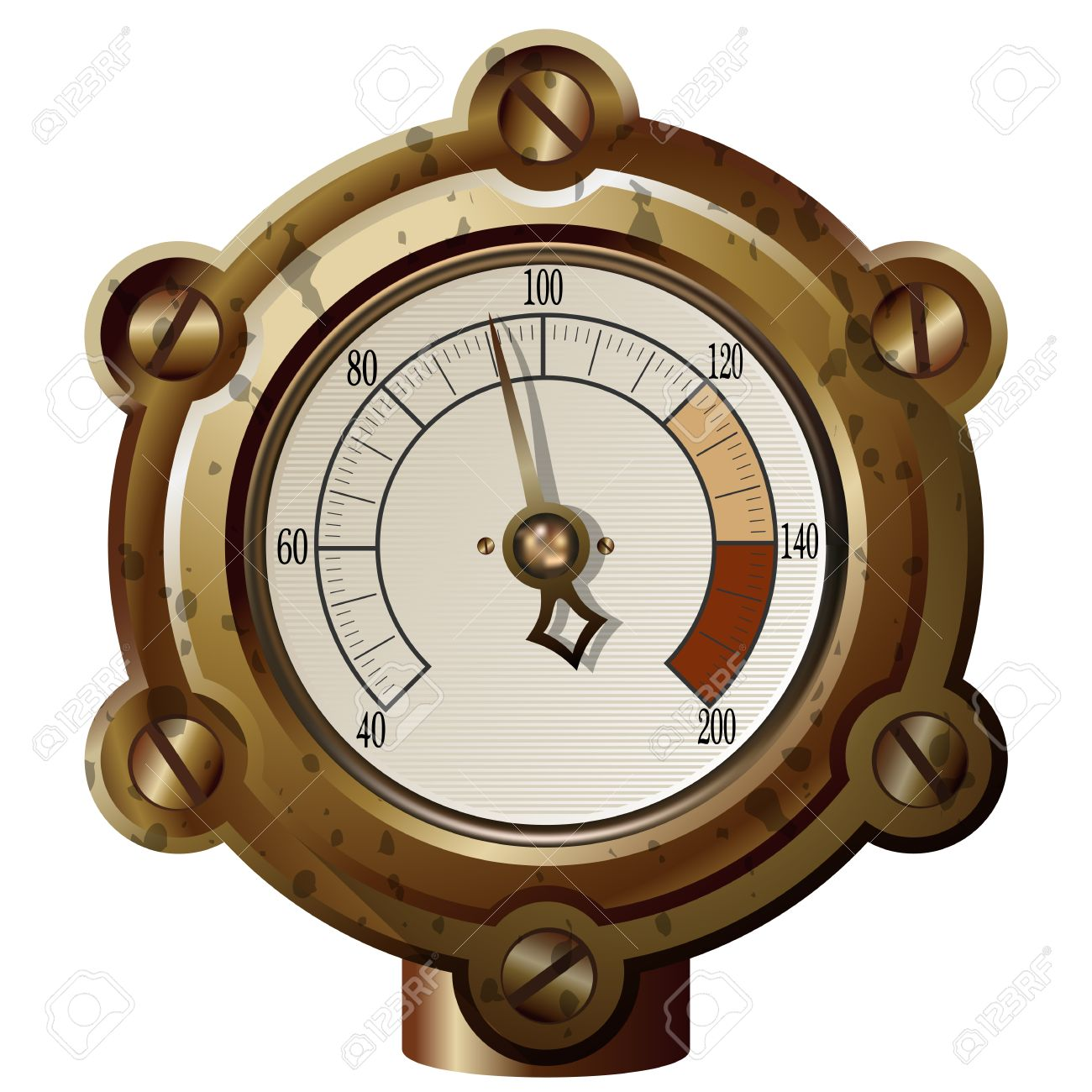 the measuring device in the steampunk style. Gradient mash Stock Vector - 27710417