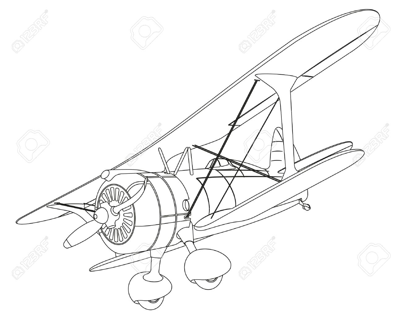 plane drawing on white background. illustration clip art Stock Vector - 29303289